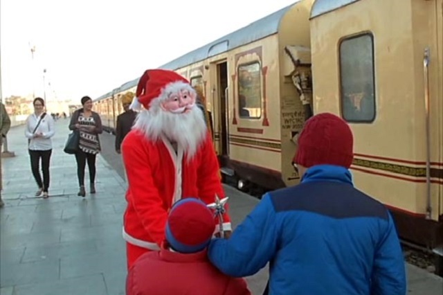 Palace on Wheels Santa Claus in the train